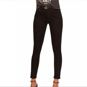 Reformation High & Skinny Jeans in Black Size 26